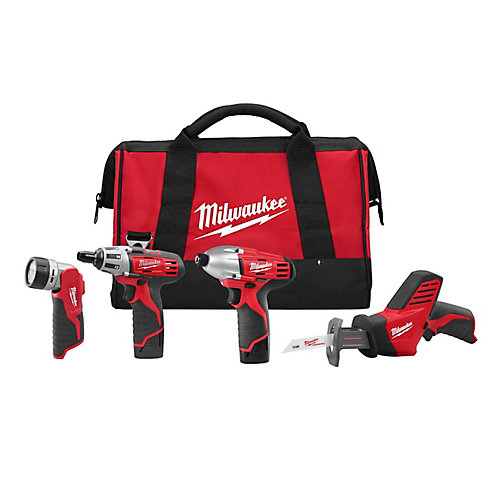 M12 Cordless Lithium-ion Four-Piece Combo Kit