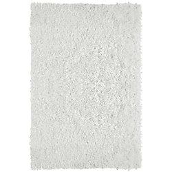 Lanart Rug City Sheen White 9 ft. x 12 ft. Indoor Shag Rectangular Area Rug