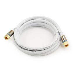 Commercial Electric 6 ft. RG-6 Coaxial Cable - White