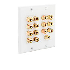14-Post Speaker Wall Plate in White