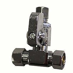 Add-A-Stop Compression Tee Valve 3/8 Inch x 3/8 Inch x 1/4 Inch