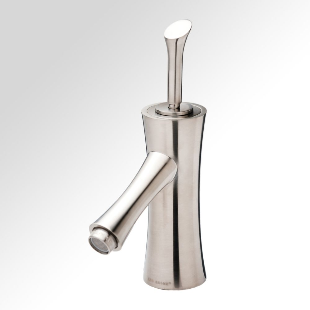 Bamboo Single-Lever Bathroom Faucet in Brushed Nickel Finish