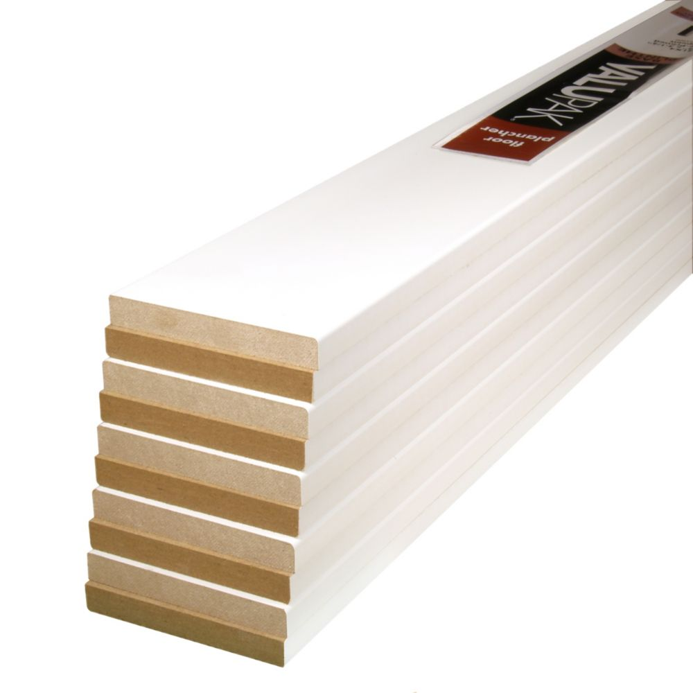 Primed Fibreboard Base 1/2 In. x 3-1/2 In. x 8 Ft. ValuPAK (10 Pieces)