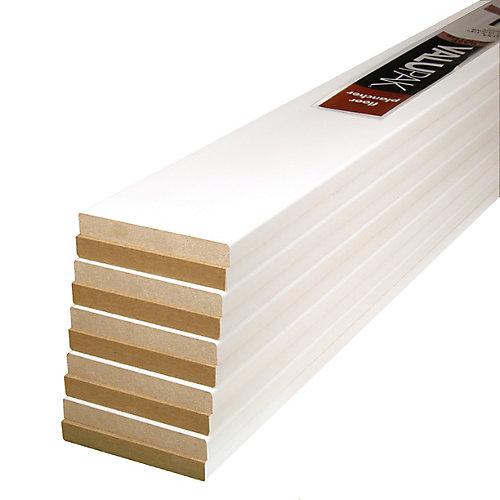 1/2-inch x 3-1/2-inch x 8 ft. Primed Fibreboard Base ValuPAK (10-Pack)