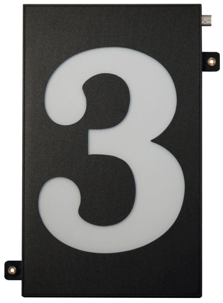 Designer's Choice Super Bright Modular House Number 3