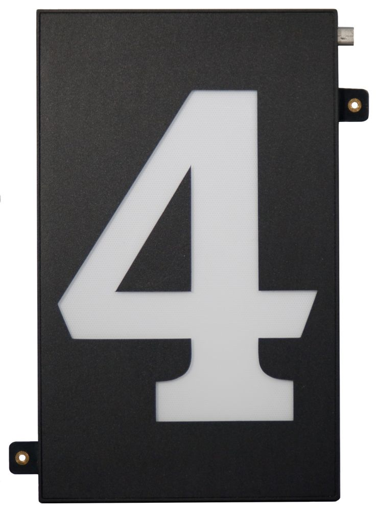 Designer 39 S Choice Super Bright Modular House Number 4 Sb4