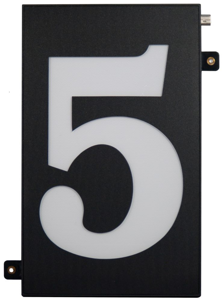 Designer's Choice Super Bright Modular House Number 5
