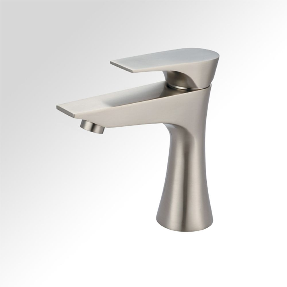 Art Bathe Diva Single Hole 1-Handle Low Arc Bathroom Faucet in Brushed Nickel with Lever Handle