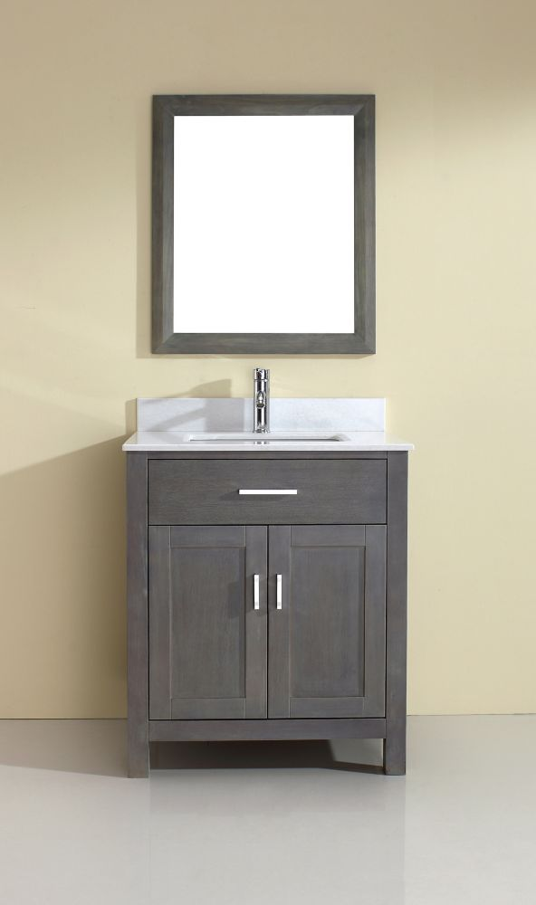 Kalize 30 French Gray Vanity Ensemble With Mirror And Faucet Kalize 30 French Gray Canada