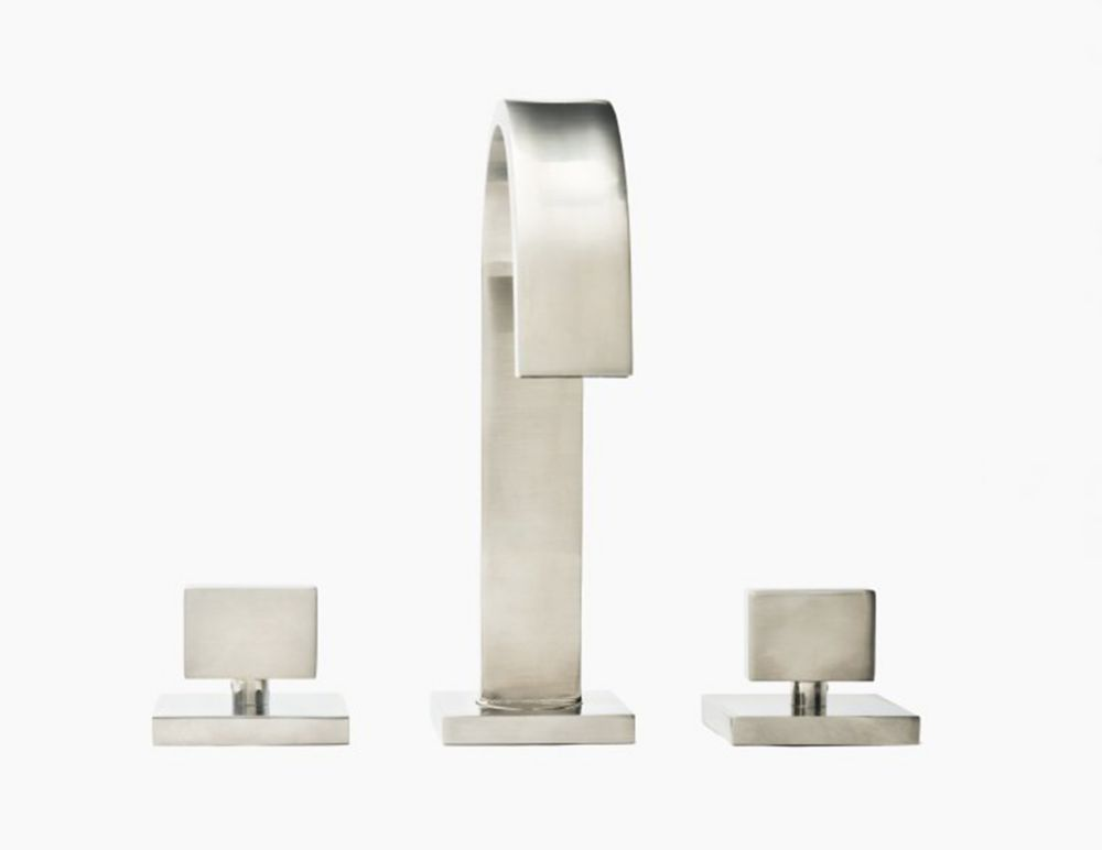 Miro 8-inch Spread Bathroom Faucet in Brushed Nickel Finish