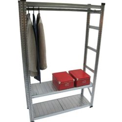 Metalsistem Heavy Duty Shelving Kit with Garment