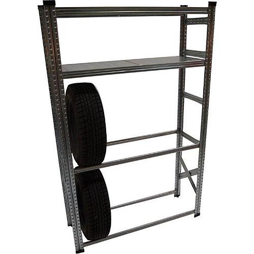 Râtelier à pneus de fabrication robuste et ensemble d'étagères