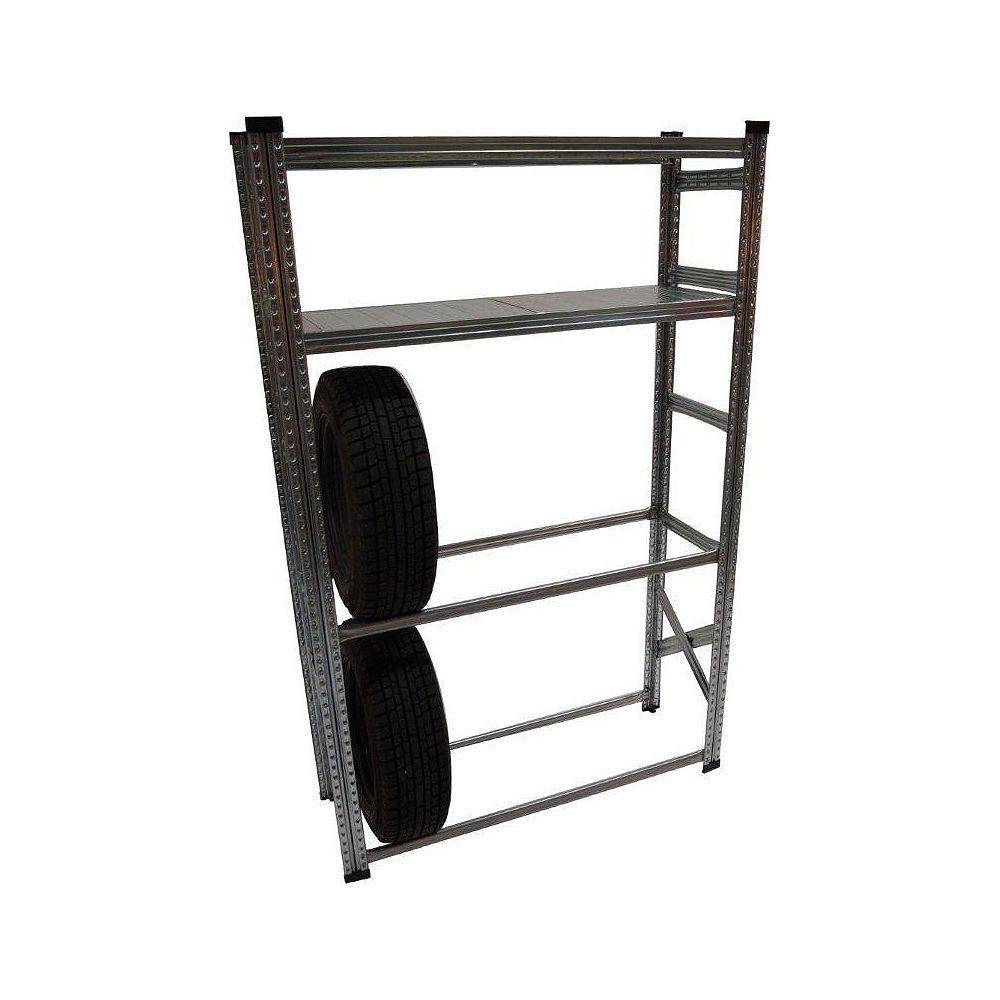 Metalsistem Râtelier à pneus de fabrication robuste et ensemble d'étagères