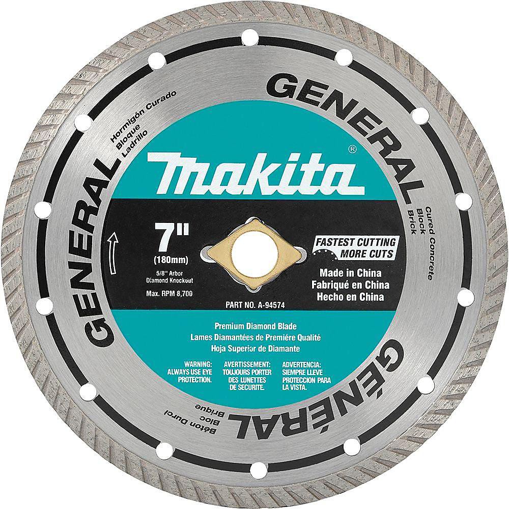 7-inch Turbo General Purpose Diamond Blade
