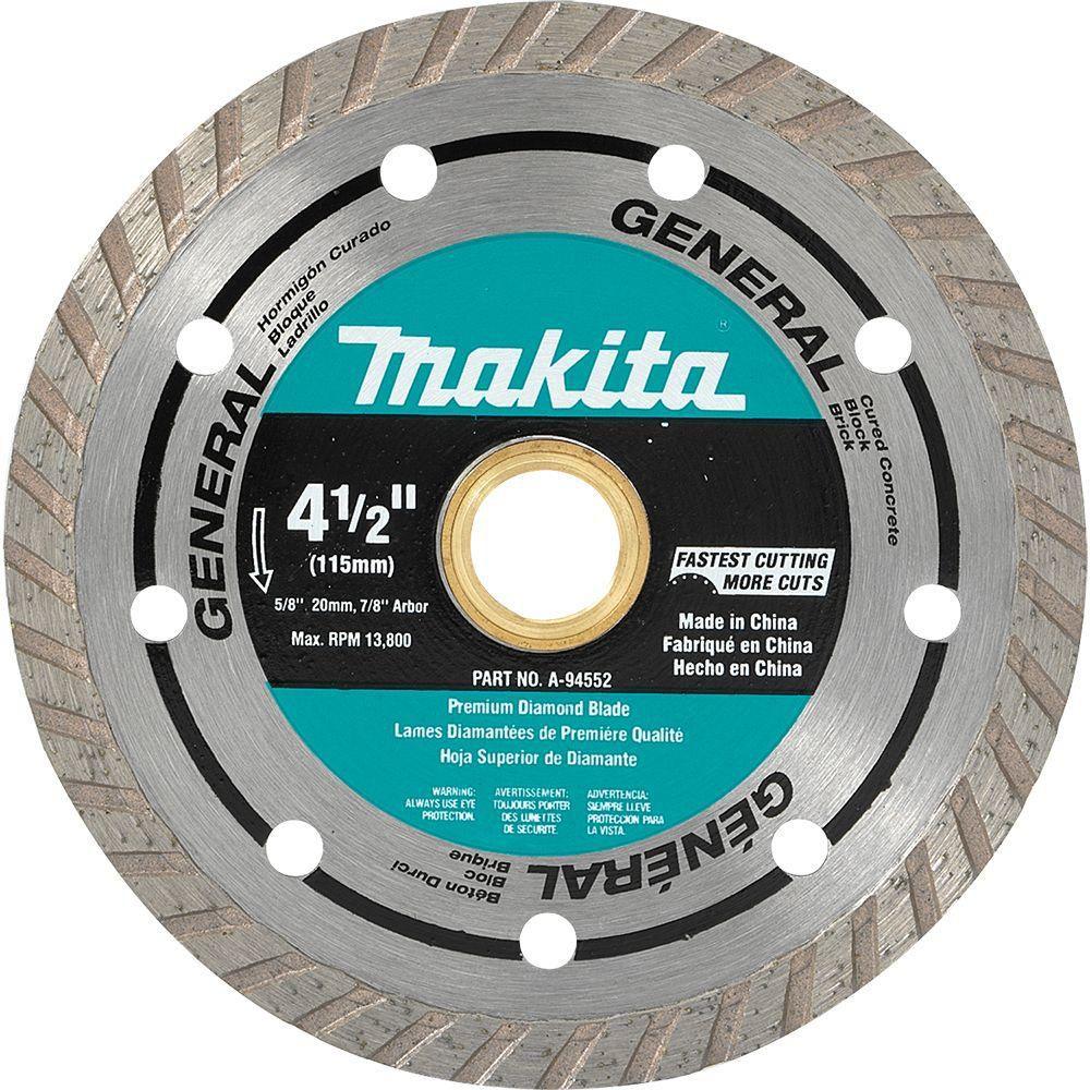 MAKITA 4 1/2-inch Turbo Diamond Blade