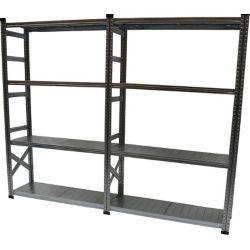 Metalsistem Ensemble d'étagères de base de fabrication robuste avec tablette de complément