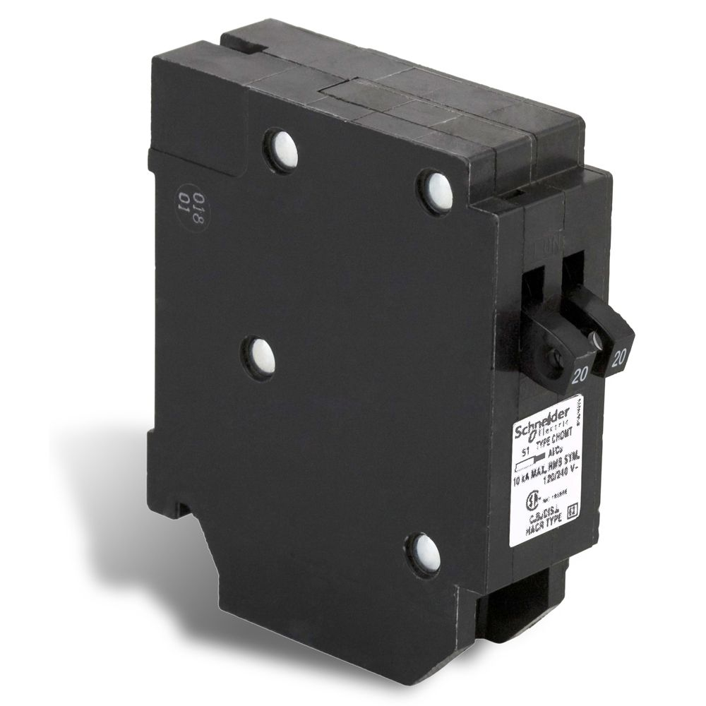 Single Pole 20-20 Amp Homeline Tandem Plug-On Circuit Breaker CHOMT2020CP Canada Discount