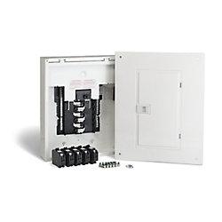 Schneider Electric - HomeLine Centre de distribution Homeline de 100A, avec 24 espaces, préfabriqué pour l'utilisateur et avec disjoncteurs