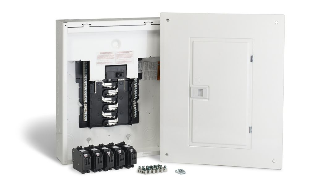 100 Amp, 24 Circuits Maximum Homeline Retrofit Panel Package with Breakers