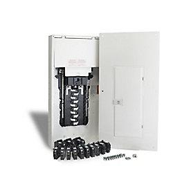 Schneider Electric - HomeLine Centre de distribution Homeline de 200A, avec 40 espaces, préfabriqué pour l'utilisateur et avec disjoncteurs
