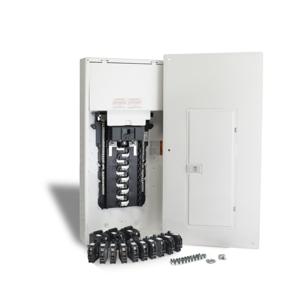 Schneider Electric - HomeLine 200 Amp, 40 Circuits Maximum Homeline Retrofit Panel Package with Breakers