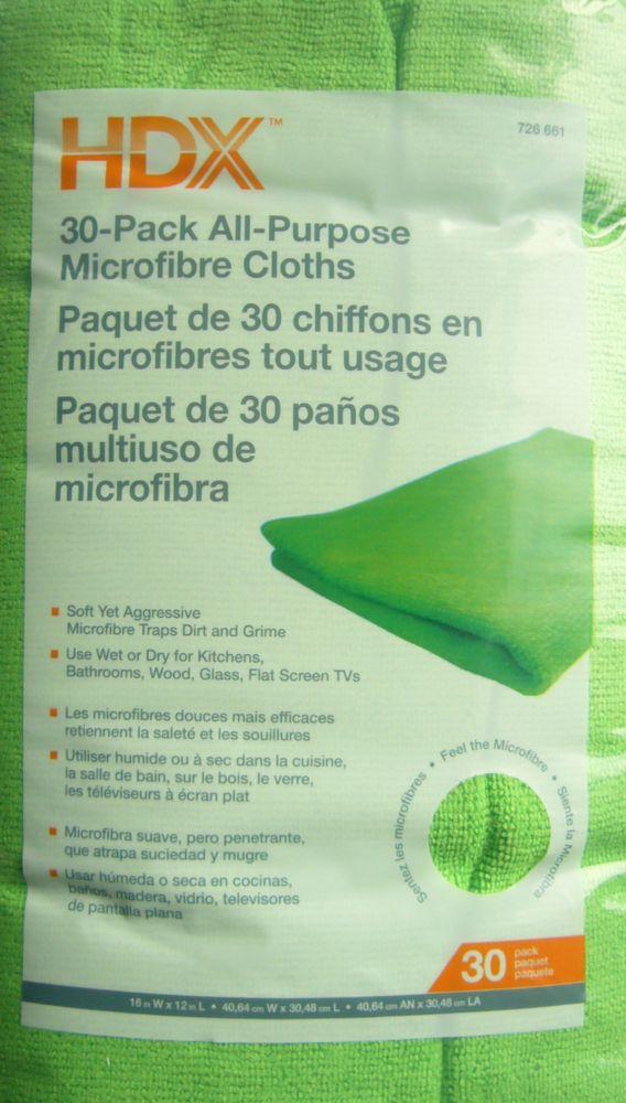 HDX 16-inch x 12-inch All-Purpose Microfiber Cloth (30-Pack)