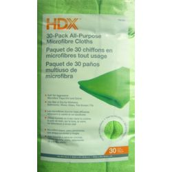 HDX Ensemble de 30chiffons tout usage en microfibres, 40,6cm x 30cm (16po x 12po)