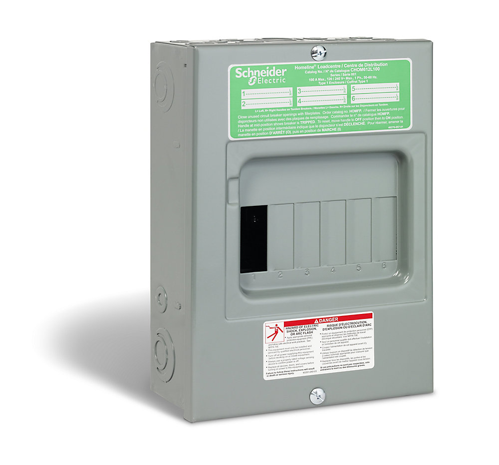 100 Amp Sub Panel Loadcentre With 6 Spaces, 12 Circuits