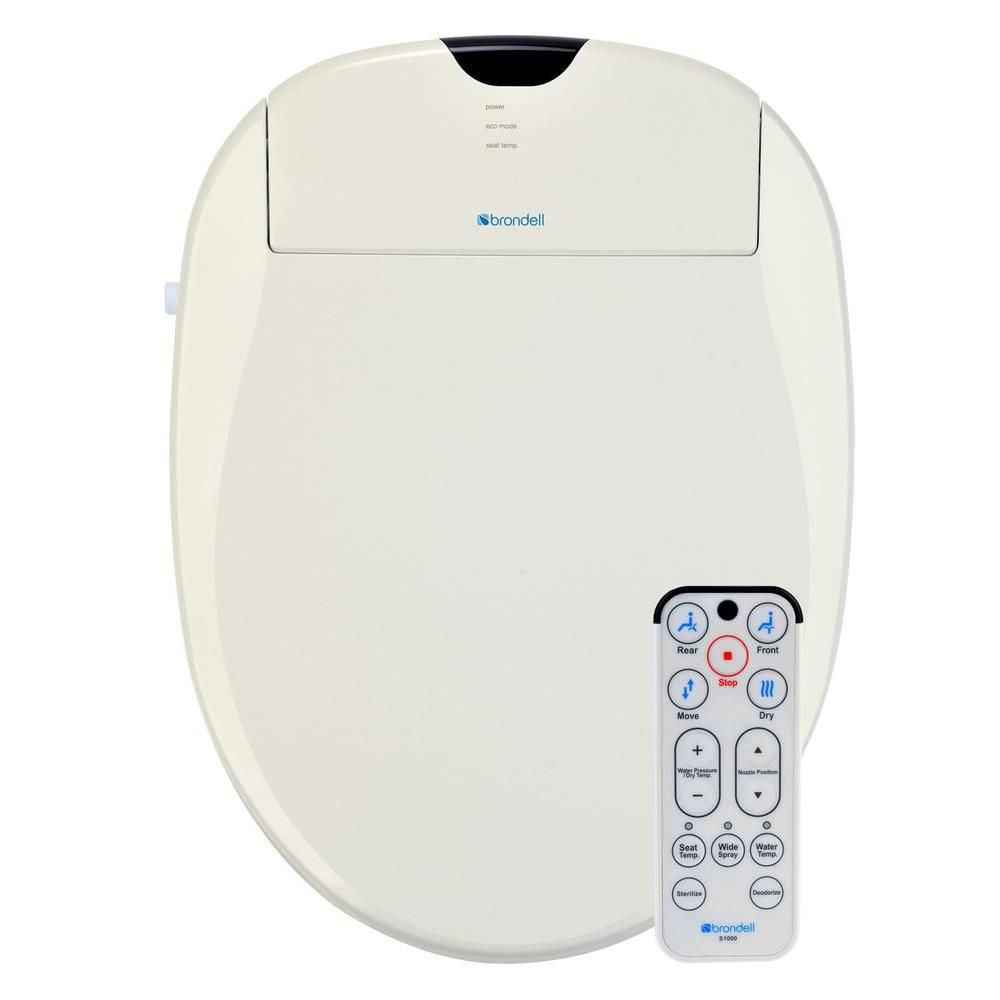 brondell biscuit elongated heated bidet toilet seat s1000 the home depot canada
