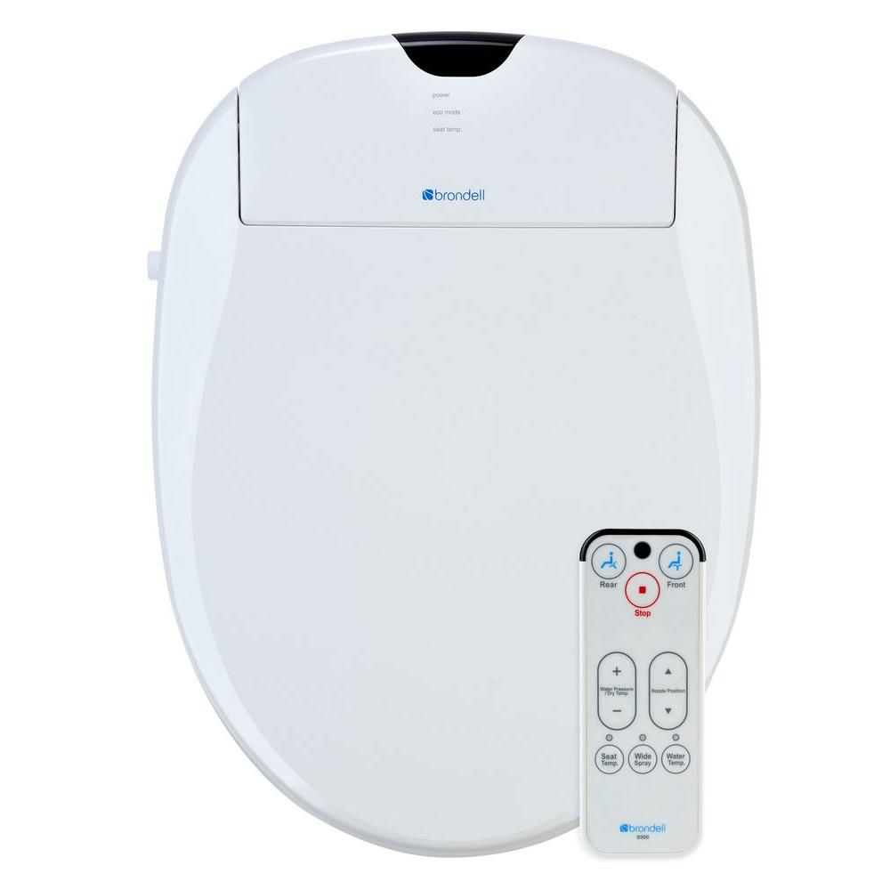 White Elongated Heated Bidet Toilet Seat-S900