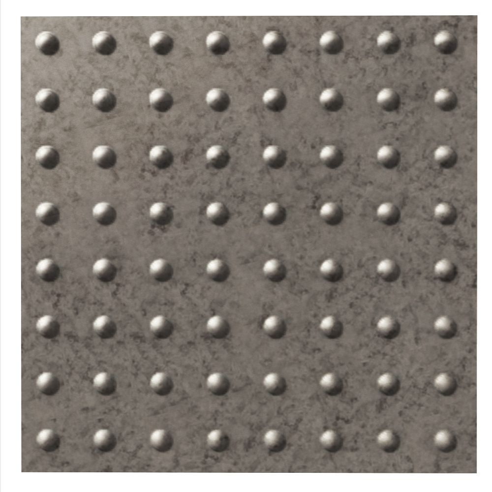 Dome Galvanized Steel Ceiling Tile - 2x2