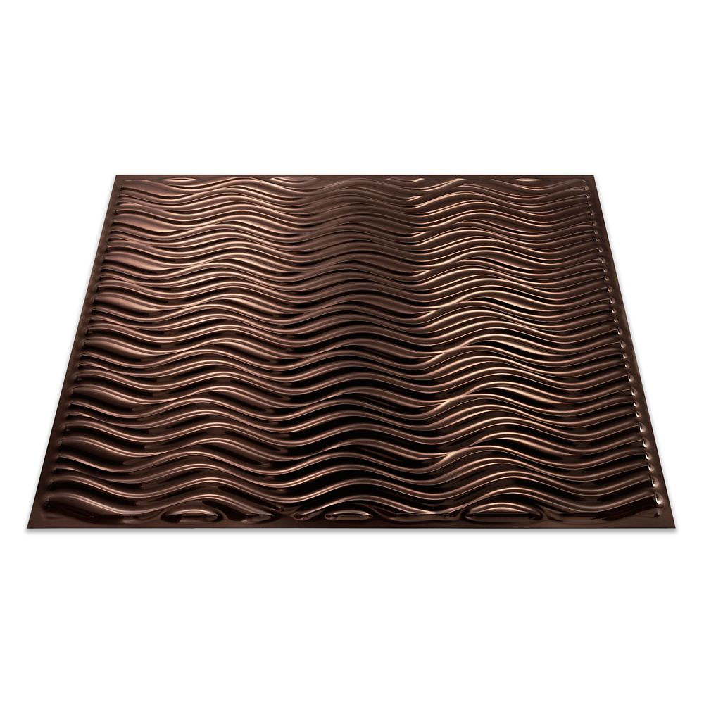 Current (Vertical) Oil Rubbed Bronze Ceiling Tile - 2x2