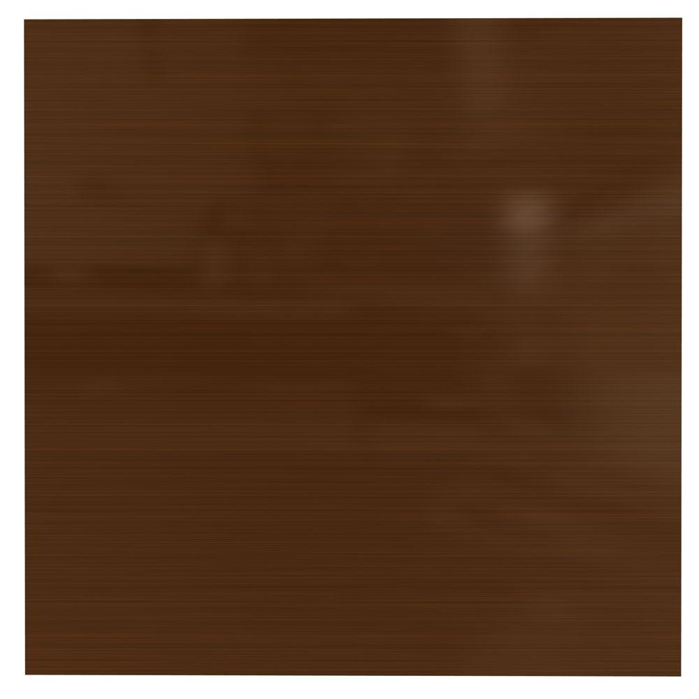 Tuile 2x2 Sans Motif (Panneau Plat), Oil Rubbed Bronze