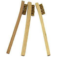 Wood Handle Mini Wire Brush (Pack 3)