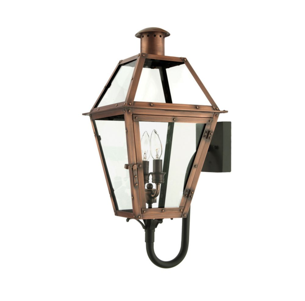 Monroe 2-Light Aged Copper Outdoor Wall Lantern