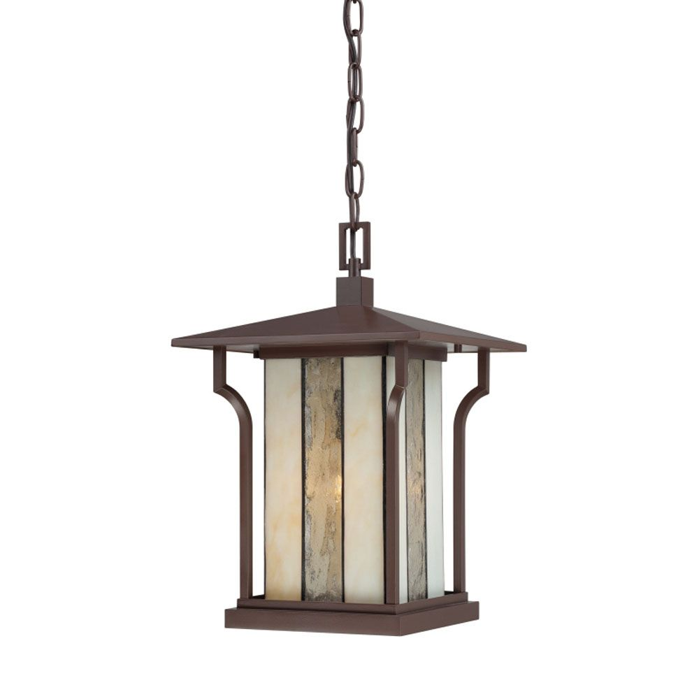 Monroe 1-Light Chocolate Bronze Outdoor Pendant Light