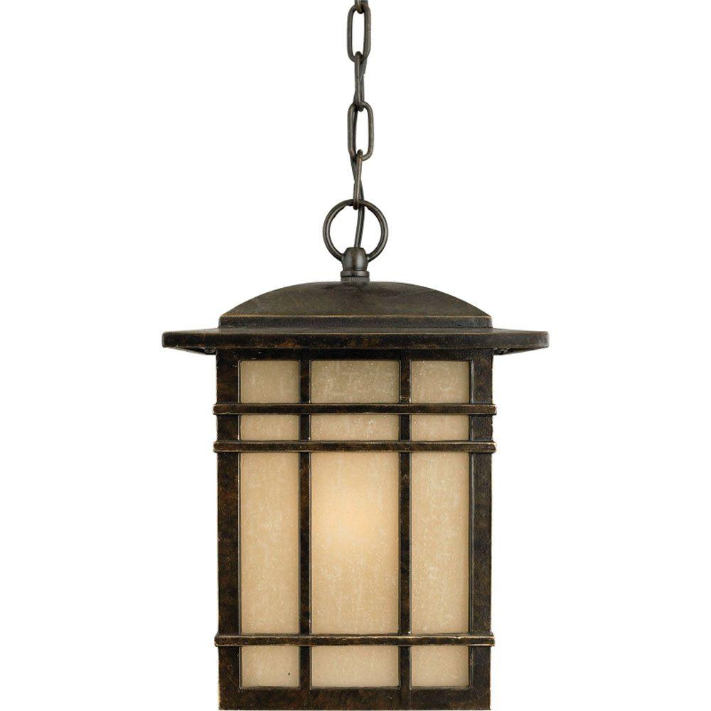 Monroe 1-Light Imperial Bronze Outdoor Pendant Light