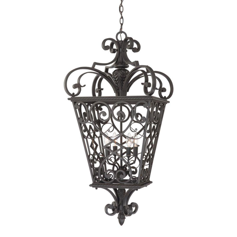 Monroe 4 Light Marcado Black Outdoor Incandescent Pendant Light