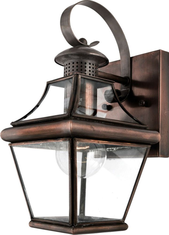 Monroe 1 Light Aged Copper Outdoor Incandescent Wall Lantern CLI-QU074909 Canada Discount