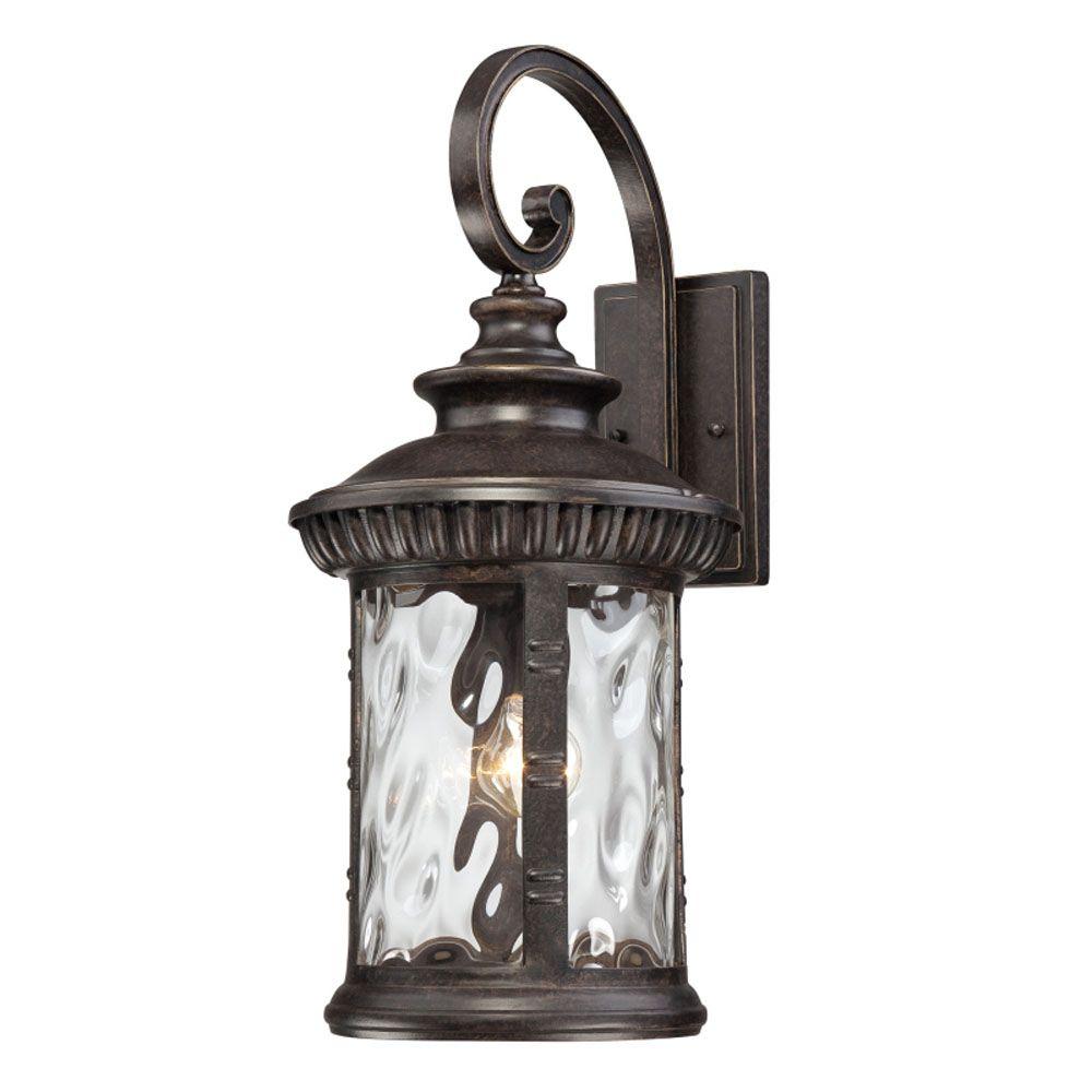 Monroe 1 Lumière noir mystique extérieur Lanterne murale à incandescence