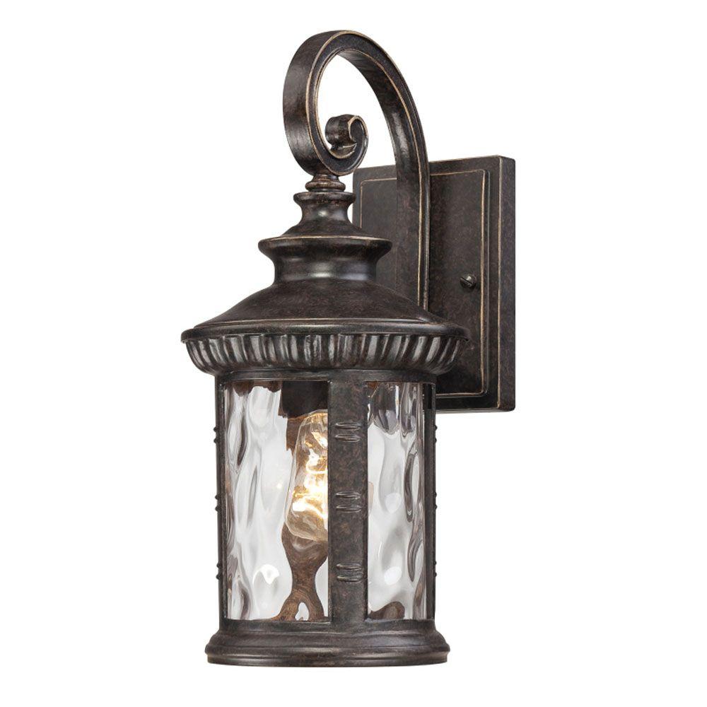 Monroe 3 Lumière Aged Copper extérieur Lanterne murale à incandescence
