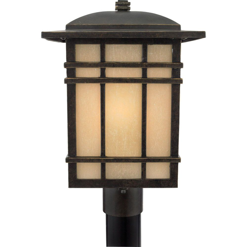 Monroe 1-Light Imperial Bronze Outdoor Post Lantern