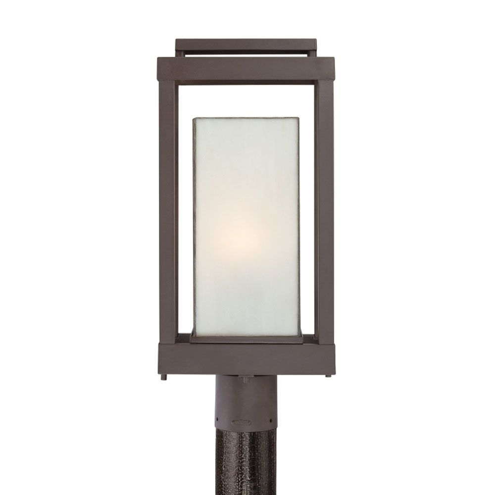 Monroe 1-Light Western Bronze Outdoor Post Lantern