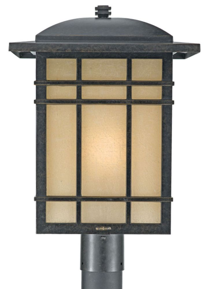 Monroe 1-Light Imperial Bronze Outdoor Post Lantern