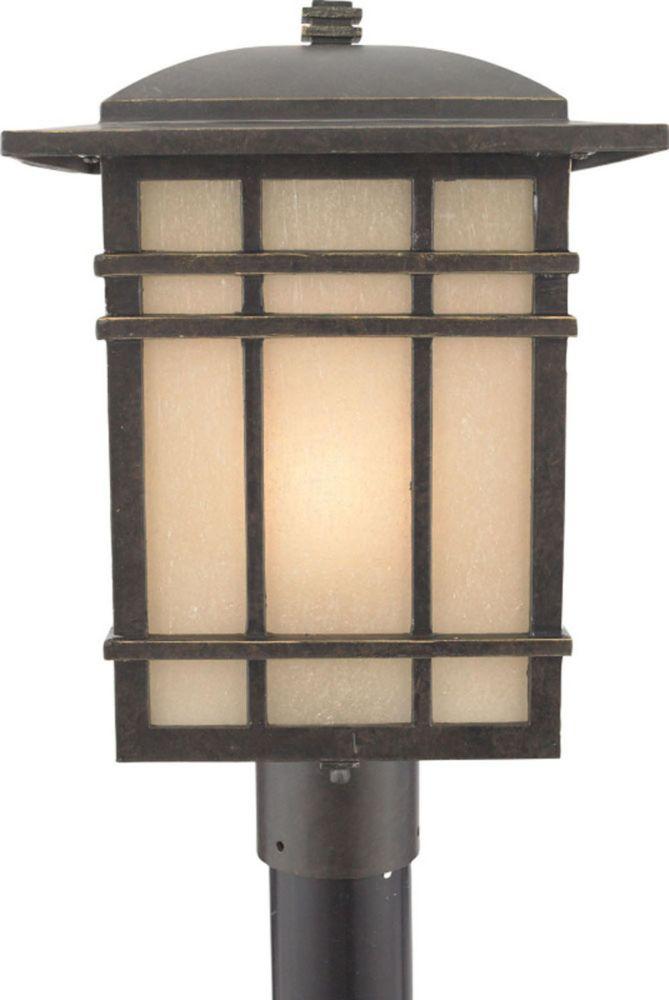 Monroe 1 Light Imperial Bronze Outdoor Compact Florescent Post Lantern