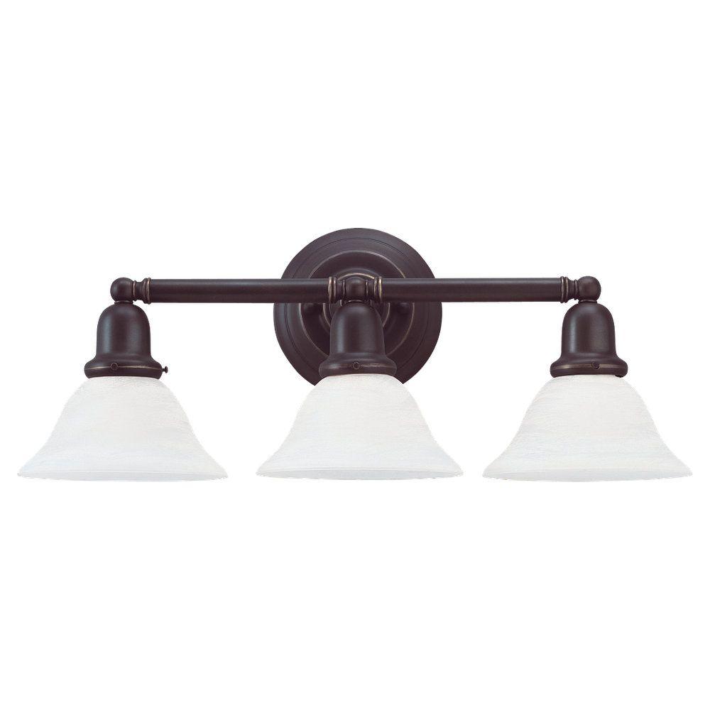 3 Light Heirloom Bronze Fluorescent Bathroom Vanity