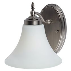 Sea Gull Lighting Lumière Seagull fixée au mur à une ampoule avec abat-jour blanc, finition de spécialité