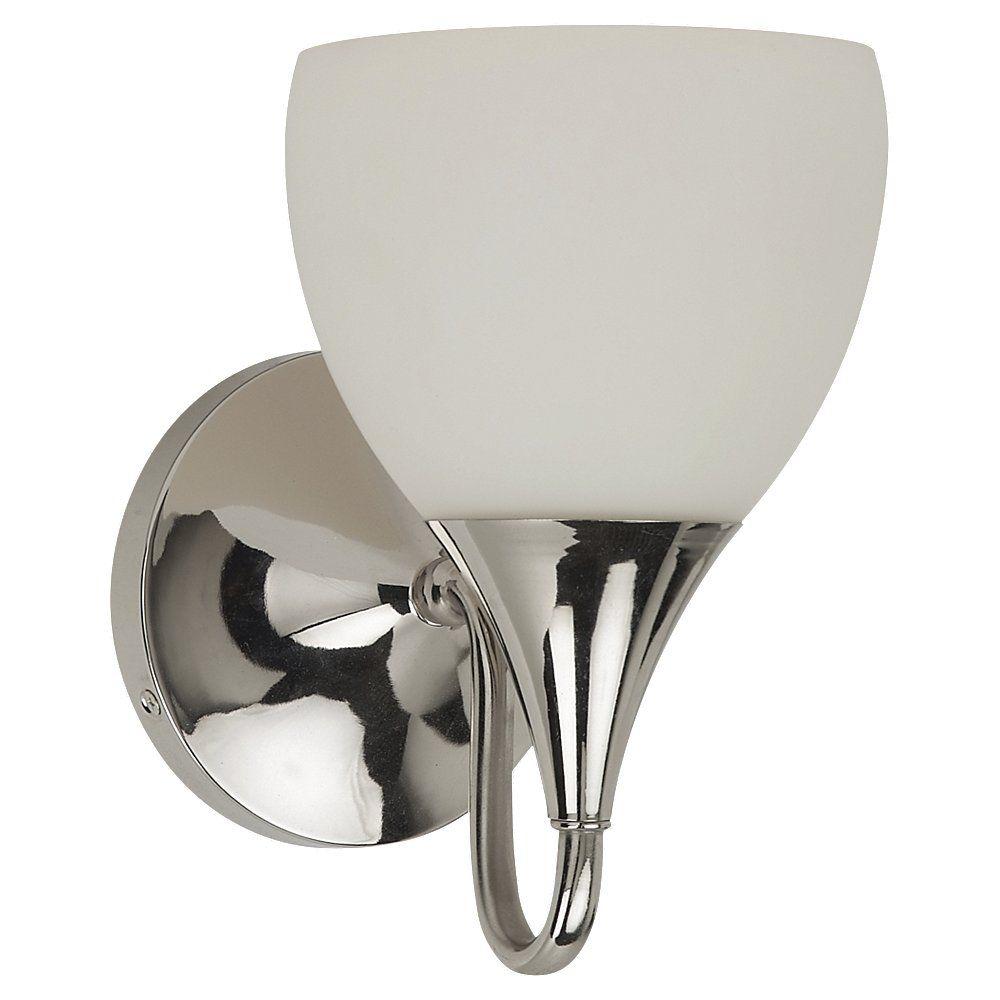 1-Light Polished Nickel Bathroom Vanity