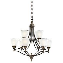 Sea Gull Lighting 9-Light Estate Bronze Chandelier