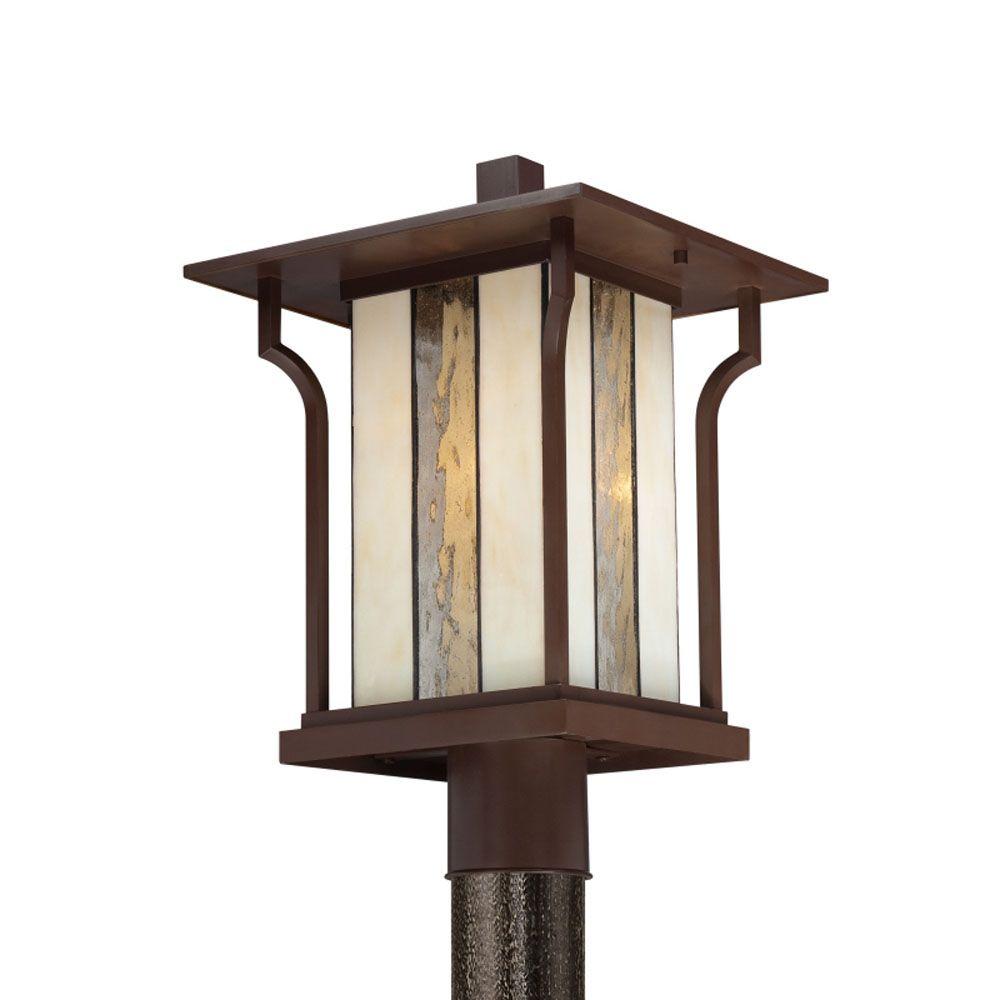 Monroe 1-Light Chocolate Bronze Outdoor Post Lantern